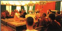 gathering of many Buddhist denominations
