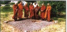 monks consecrate the land