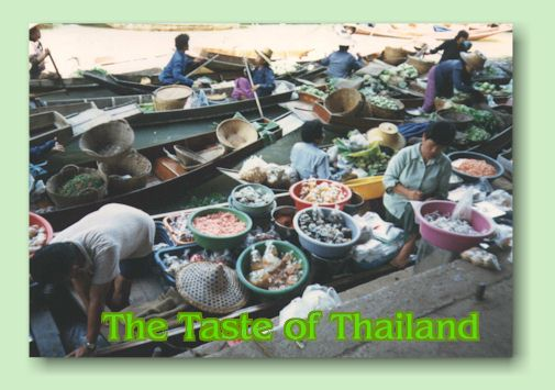 The Taste of Thailand - Cover photo taken at Damnoen Saduak